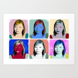 In the Style of... Andy Warhol, 2010 Art Print