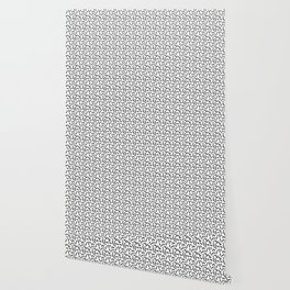 Black and White Memphis Squiggle Pattern Wallpaper