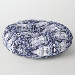 Modern Bohemian Indigo Blue Pattern Floor Pillow