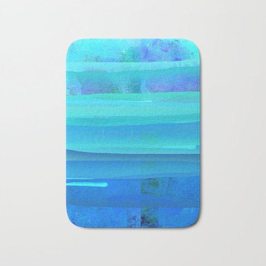 Water Blue Abstract Bath Mat