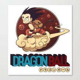 Son Goku & Kinto-Un Canvas Print