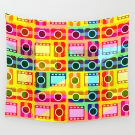 Colorful camera pattern Wall Tapestry