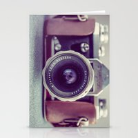 vintage camera Stationery Cards featuring Vintage Camera by Juste Pixx Photography