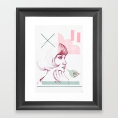 Classroom Girl Framed Art Print