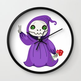 Not-So Grim Reaper Wall Clock