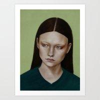 dahlia Art Prints featuring Dahlia by Kalynn Burke