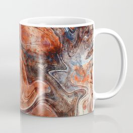 Orange marble watercolor Coffee Mug