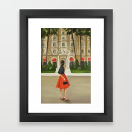 This Is The Place She Had Been Heading All Her Life Framed Art Print
