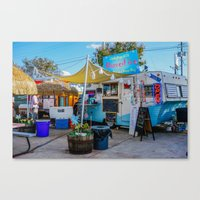 trailer park boys Canvas Prints featuring Austin Trailer Park by Chee Sim