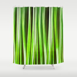 Tropical Green Riverweed Shower Curtain