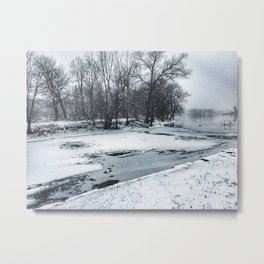 Rock River - Boat Launch Metal Print