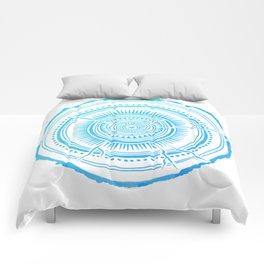 Quaking Aspen – Blue Ombré Tree Rings Comforters