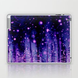 Vibrant trees in Alcohol ink Laptop & iPad Skin