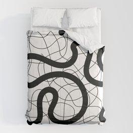 Drunk Lines Comforters
