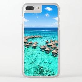 Tahiti paradise honeymoon vacation destination Clear iPhone Case