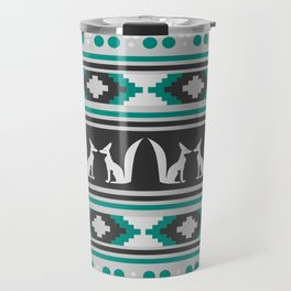 Ethnic pattern with foxes Travel Mug