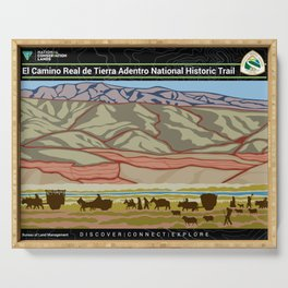 Vintage Poster - El Camino Real de Tierra Adentro National Historic Trail (2018) Serving Tray