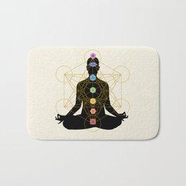 Sacred Geometry Metatron's Cube Chakra Meditation Bath Mat