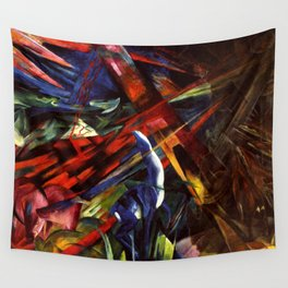 "Franz Marc ""The fate of the animals"" Wall Tapestry"