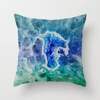 mineral Throw Pillows featuring MINERAL MAZE by Catspaws