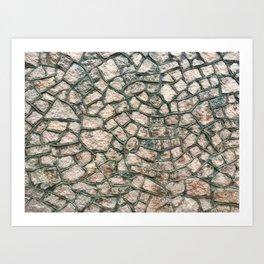 Historic stone building Art Print