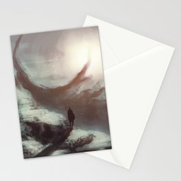 of nothingness and eternity Stationery Cards