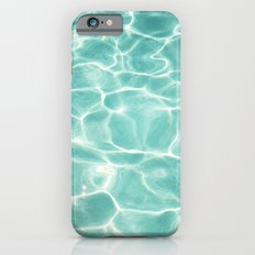 Water Abstract Photography, Teal Ocean, Turquoise Sea, Water Ripple Seascape iPhone 6s Slim Case