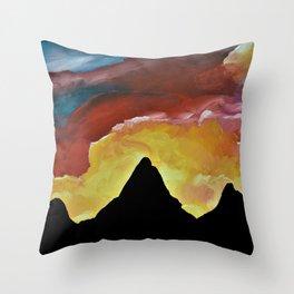 Everest Silhouette Throw Pillow