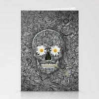 calavera Stationery Cards featuring Calavera by AkuMimpi