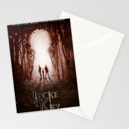 lock and key Stationery Cards
