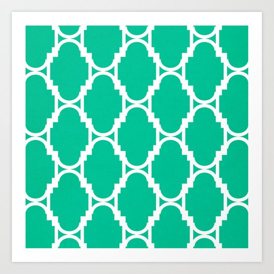 Pillow Talk- Turquoise Art Print