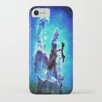 nebula iPhone & iPod Cases featuring Blue Pillars of Creation nEBULA  by 2sweet4words Designs