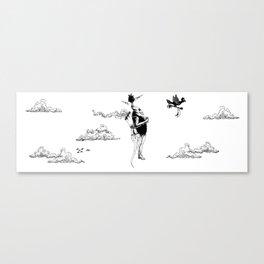 Tiki mask jetpack Canvas Print