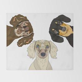 Triple Doxies Throw Blanket