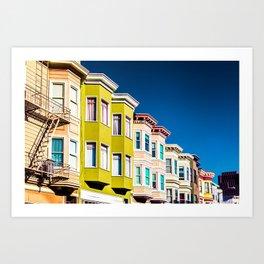 Colorful San Francisco 3 Art Print