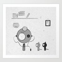 doctor Art Prints featuring Doctor by iodine