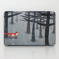 grey iPad Cases featuring The Fox and the Forest by Nic Squirrell