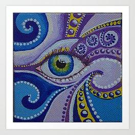 cold eye Art Print