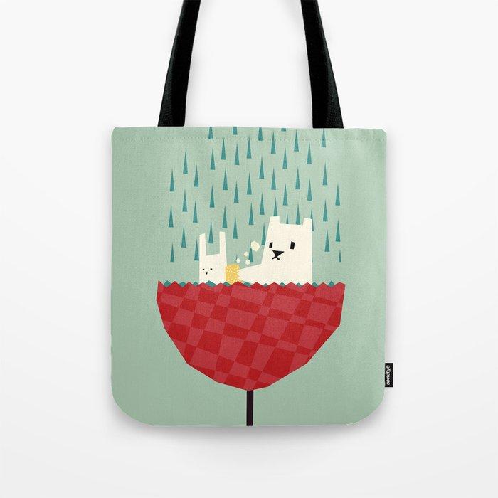 umbrella bath time! Tote Bag