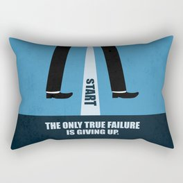 Lab No. 4 - The Only True Failure Is Giving Up Corporate Start-up Quotes Rectangular Pillow