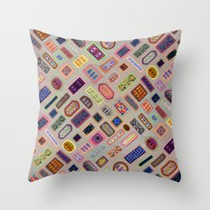 Multi color melody light Throw Pillow