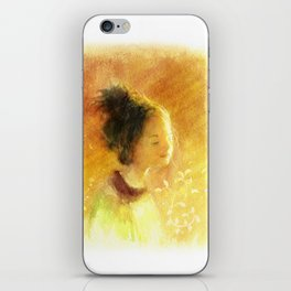 Girl with the Sunshine iPhone Skin