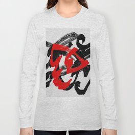 Black and red Long Sleeve T-shirt