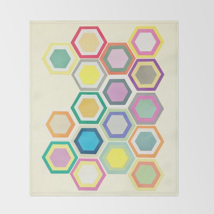 Honeycomb Layers II Throw Blanket
