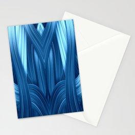 Abstraktion in blau Stationery Cards