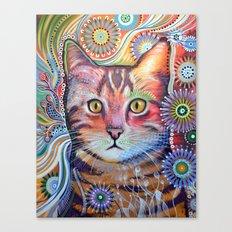 Olivia ... abstract cat art Canvas Print