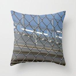 Bleachers Behind Fence Throw Pillow