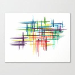 Colour Thatch Canvas Print
