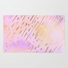Pastels In Gold Stipes Rug