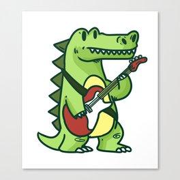 Guitar crocodile Canvas Print